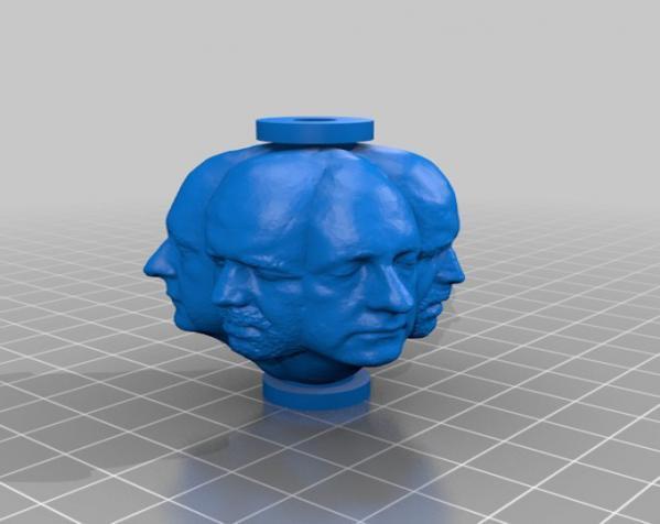 人头项链 3D模型  图3