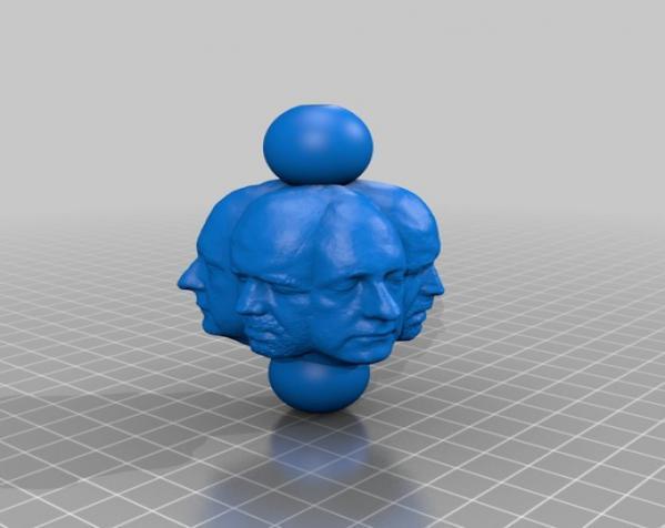 人头项链 3D模型  图5