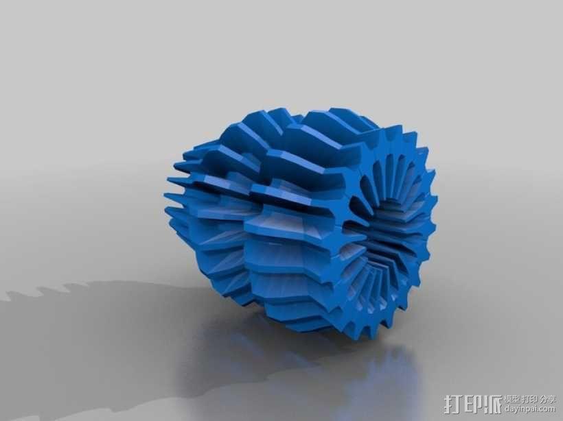 变形的球面谐波 几何体 3D模型  图1