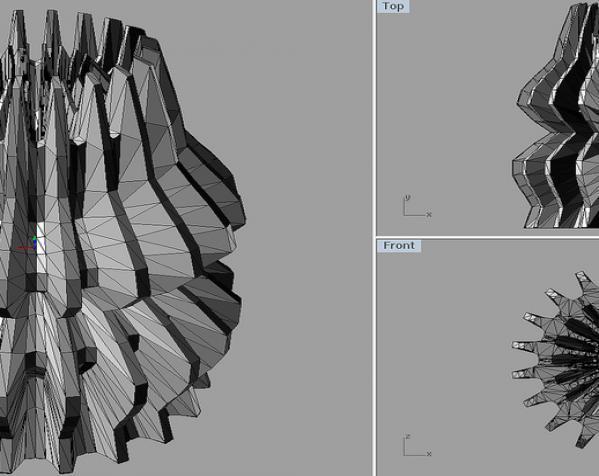 变形的球面谐波 几何体 3D模型  图3