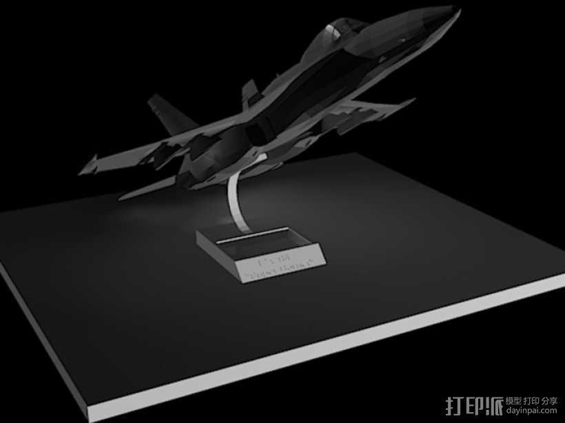 F18 飞机模型 3D模型  图2