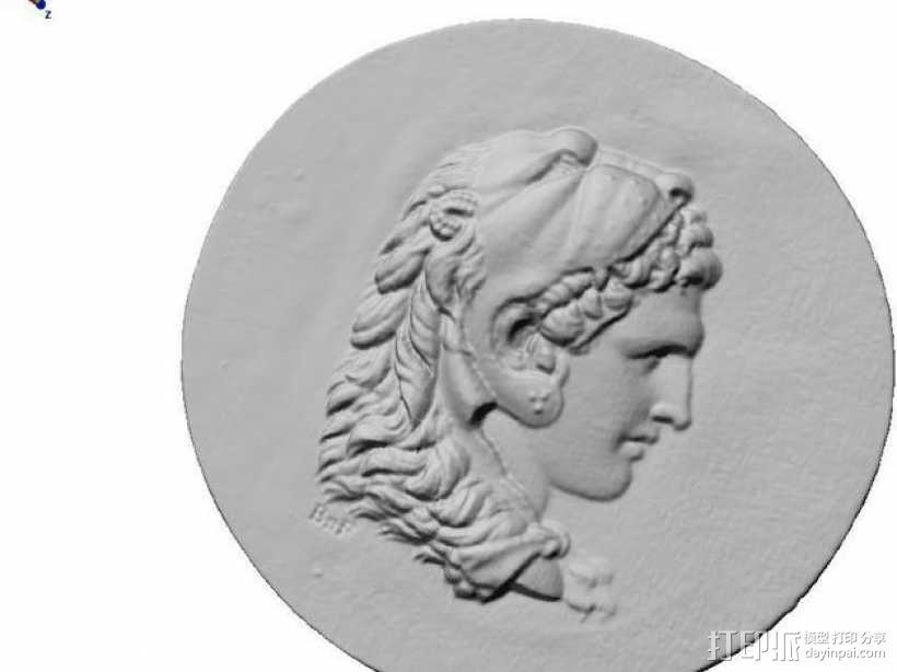 圆形浮雕 3D模型  图1