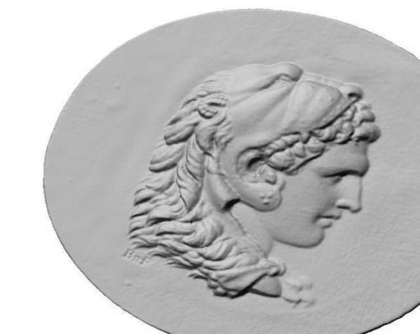 圆形浮雕 3D模型  图2