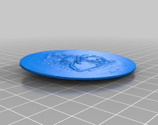 圆形浮雕 3D模型  图5