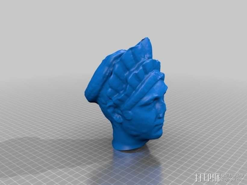 马尔恰纳大理石肖像 3D模型  图2