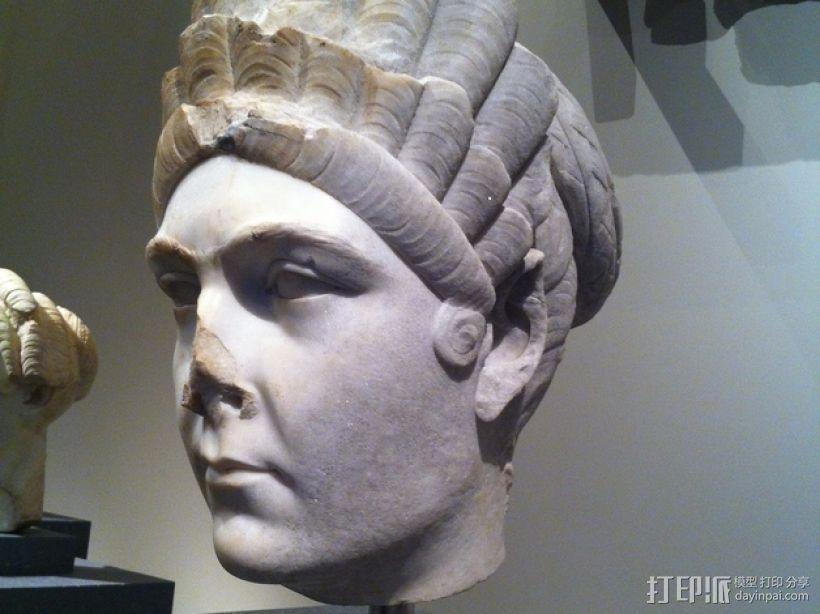 马尔恰纳大理石肖像 3D模型  图1