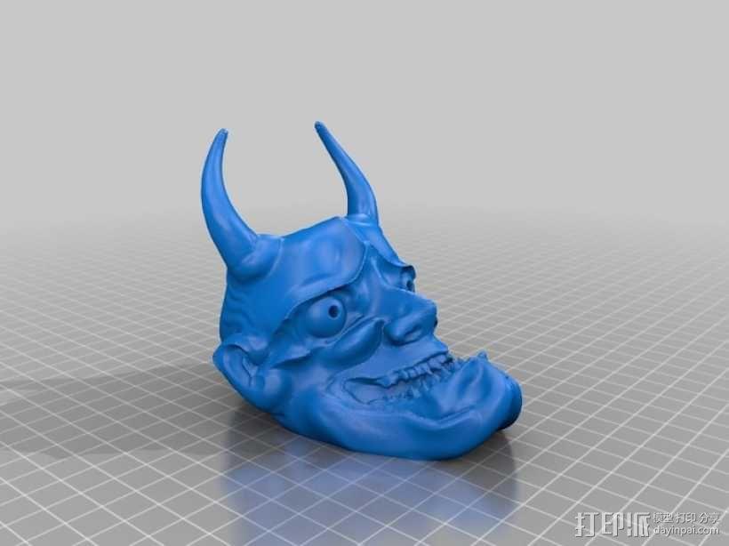 般若面具 3D模型  图3