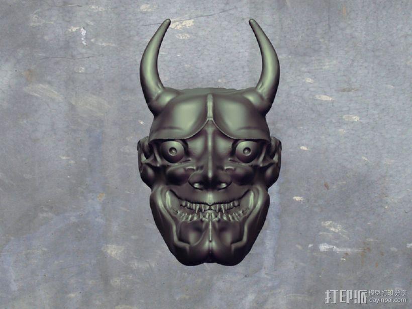 般若面具 3D模型  图1