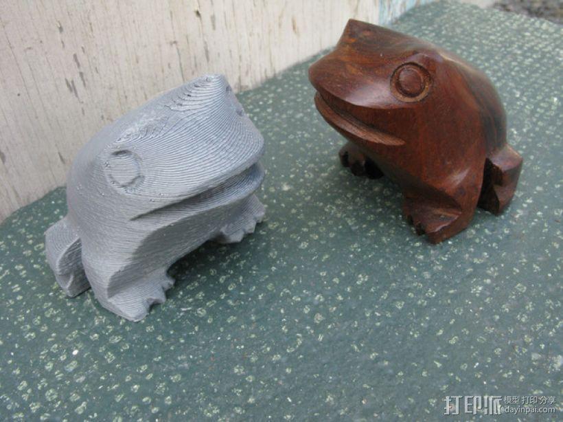 木蛙 大理石猫 3D模型  图1