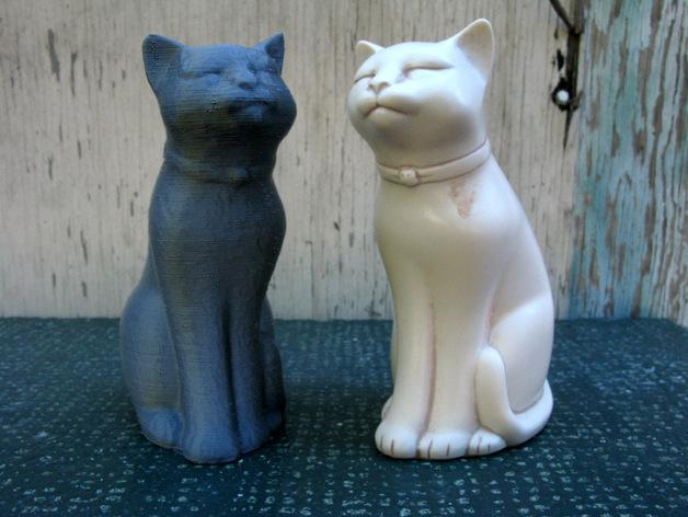 木蛙 大理石猫 3D模型  图2