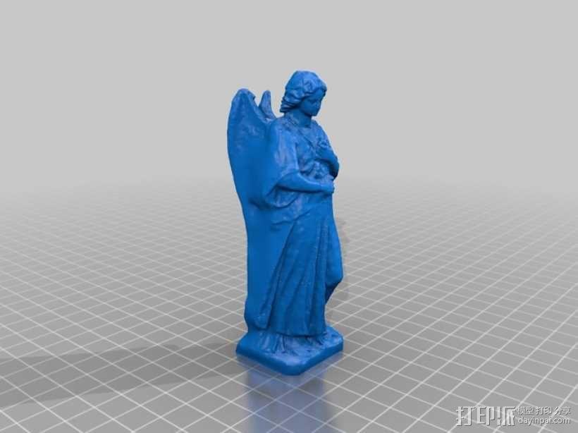 海洋天使 雕像模型 3D模型  图2
