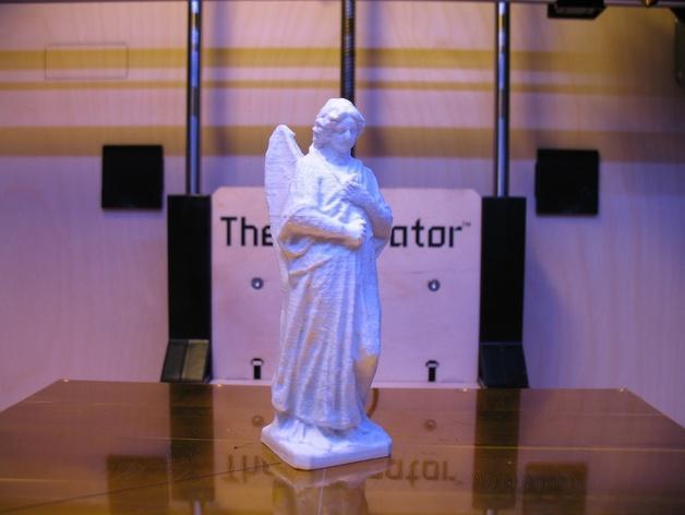 海洋天使 雕像模型 3D模型  图3