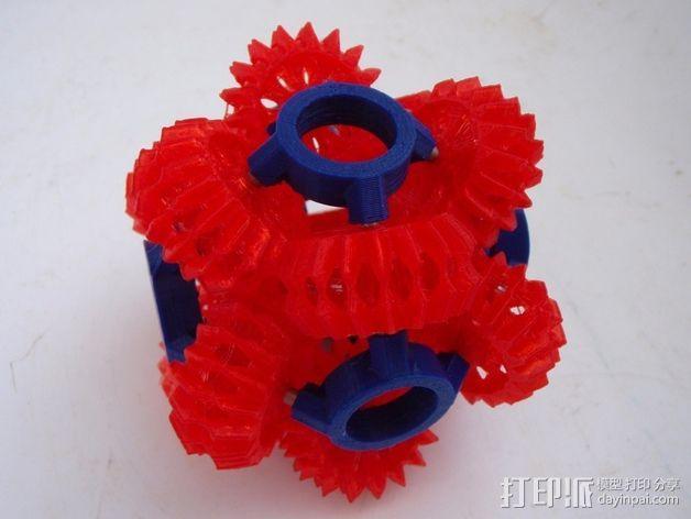 大脑齿轮 3D模型  图2