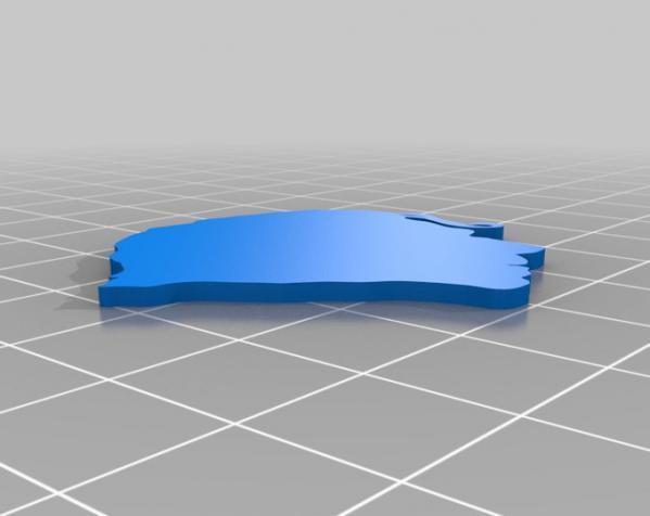 Chilly Gonzales头像 3D硬币 3D模型  图1