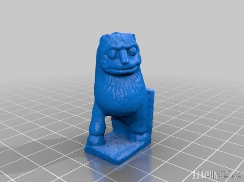 印度2世纪的狮子 模型 3D模型  图1