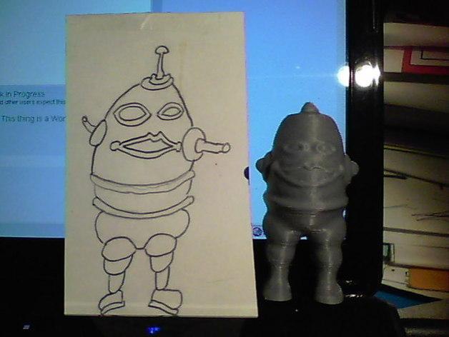 涂鸦机器人 3D模型  图2