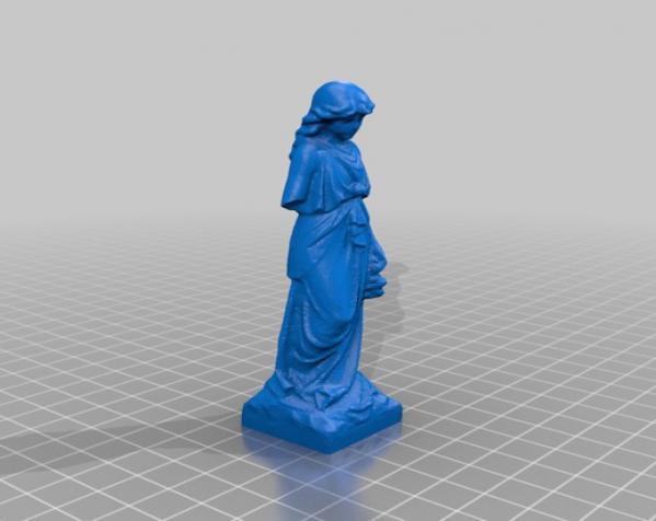 迷你公墓雕塑 3D模型  图1