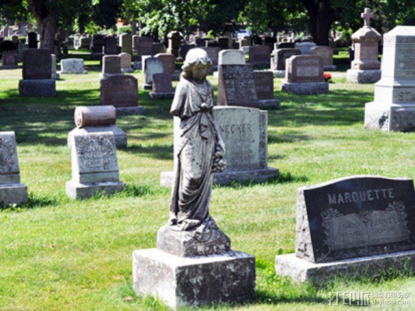 迷你公墓雕塑 3D模型  图2