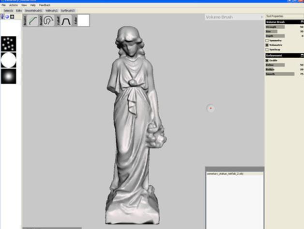 迷你公墓雕塑 3D模型  图3