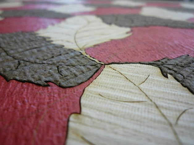 落叶壁画 3D模型  图5