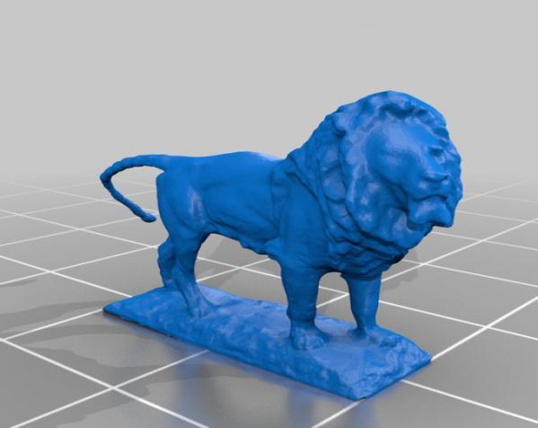 狮子雕像  3D模型  图1