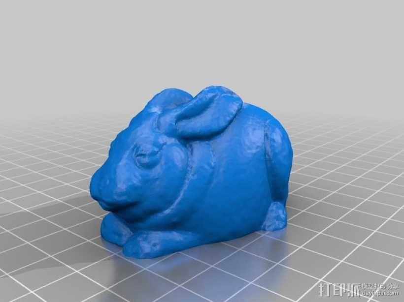纪念品:兔子 3D模型  图3