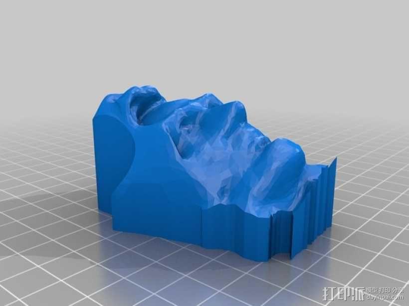 亚伯拉罕·林肯雕塑 3D模型  图1