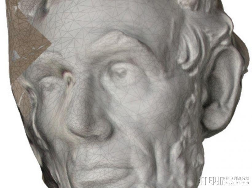 亚伯拉罕·林肯雕塑 3D模型  图2
