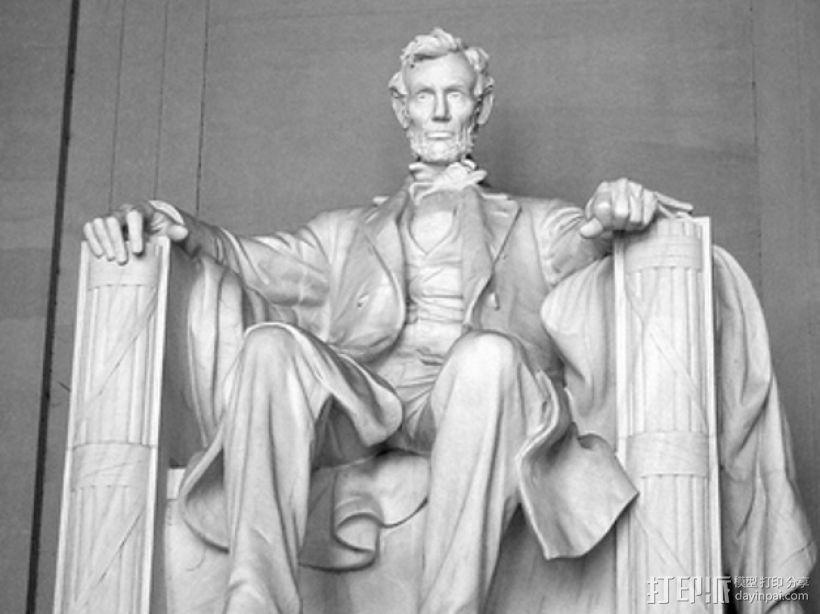 亚伯拉罕·林肯雕塑 3D模型  图3