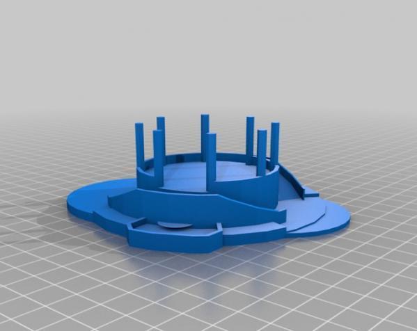 西班牙潘普洛纳报刊亭 3D模型  图1