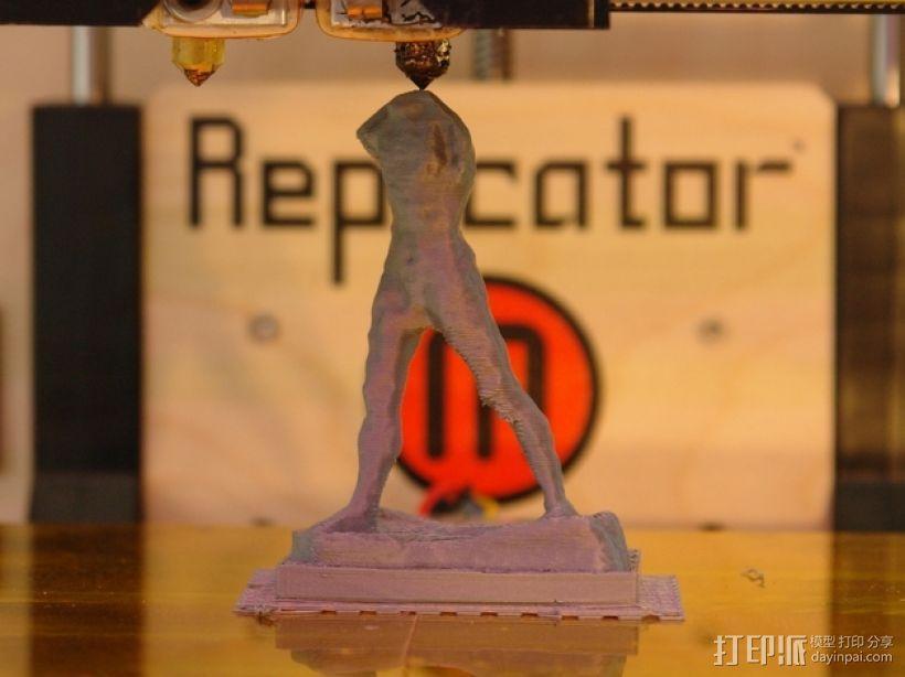 奥古斯特·罗丹雕塑:行走的人 3D模型  图2