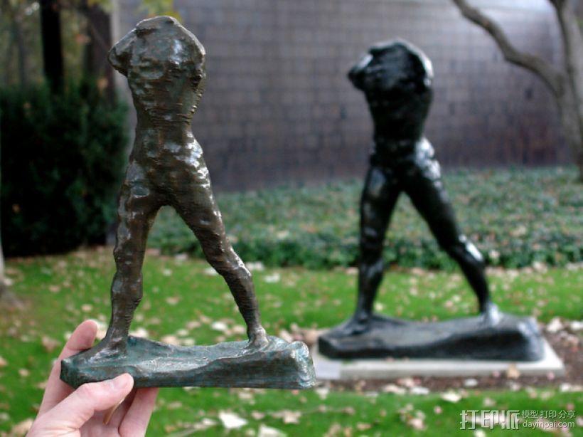 奥古斯特·罗丹雕塑:行走的人 3D模型  图4