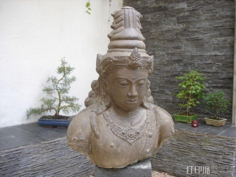 印尼佛像雕塑 3D模型  图1