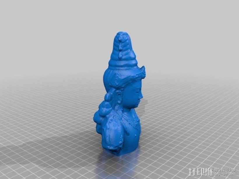 印尼佛像雕塑 3D模型  图4