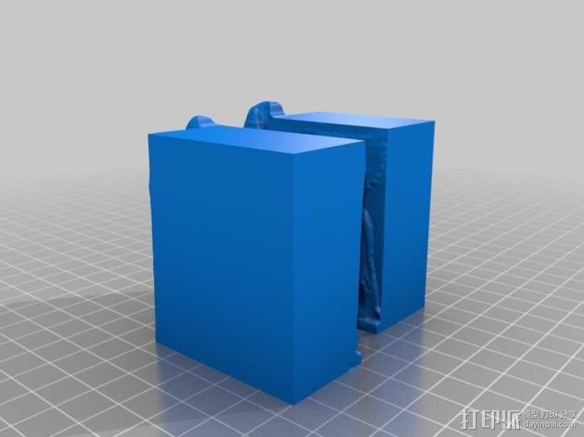 人首半狮半牛怪拉玛苏 3D模型  图3