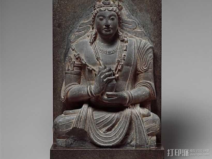 弥勒佛雕塑 3D模型  图1