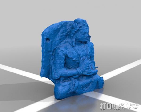 弥勒佛雕塑 3D模型  图2