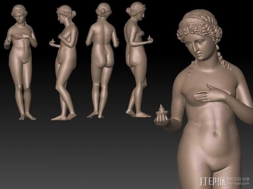 古代维纳斯塑像 3D模型  图1