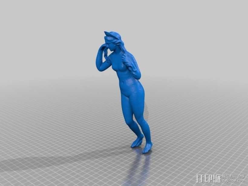 古代维纳斯塑像 3D模型  图2