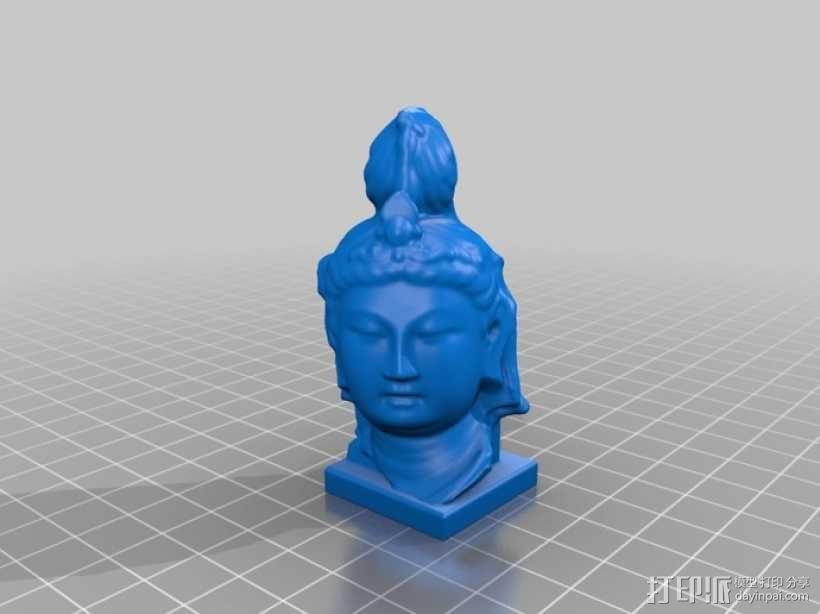 观世音菩萨头像 3D模型  图3