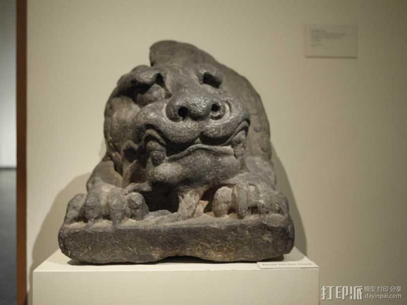 北齐朝代石狮子 3D模型  图5