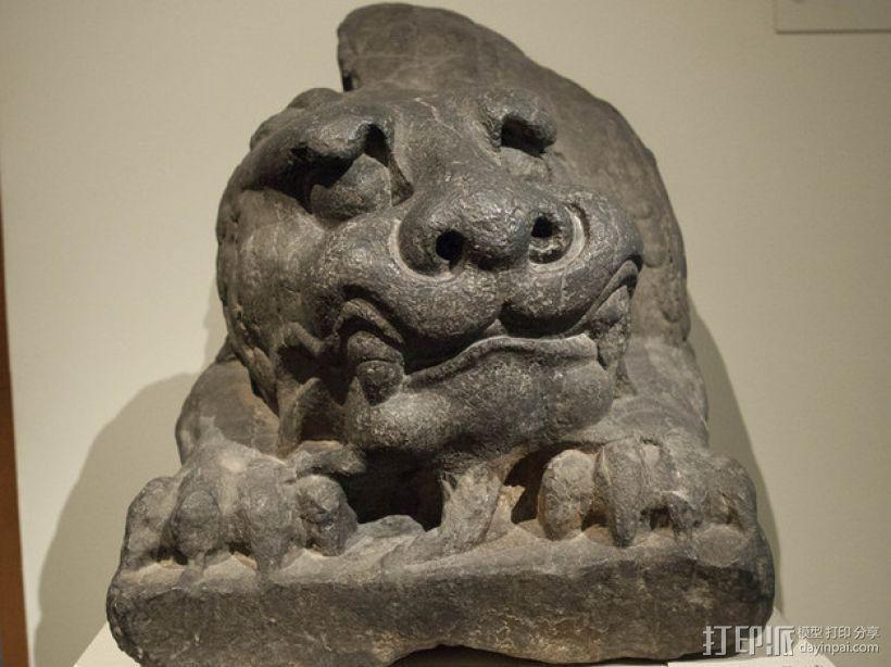 北齐朝代石狮子 3D模型  图4