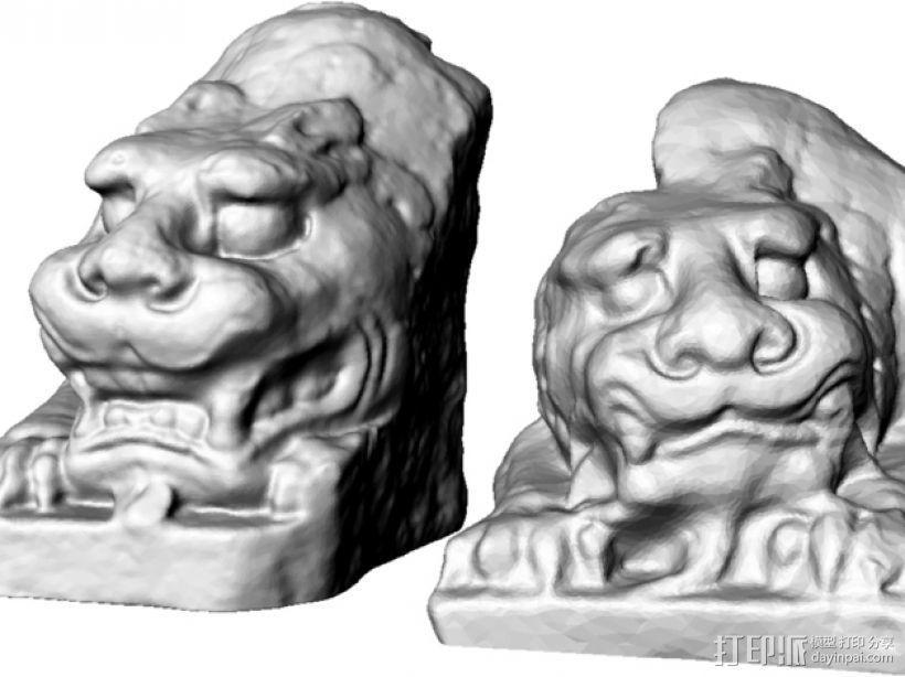 北齐朝代石狮子 3D模型  图3