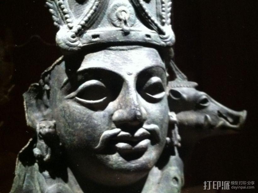 印度毗瑟奴面具 3D模型  图1
