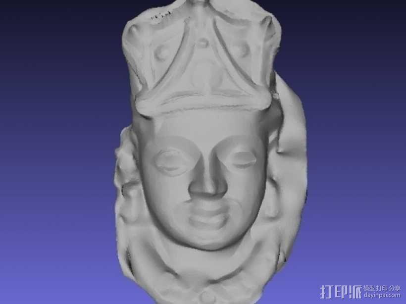 印度毗瑟奴面具 3D模型  图3