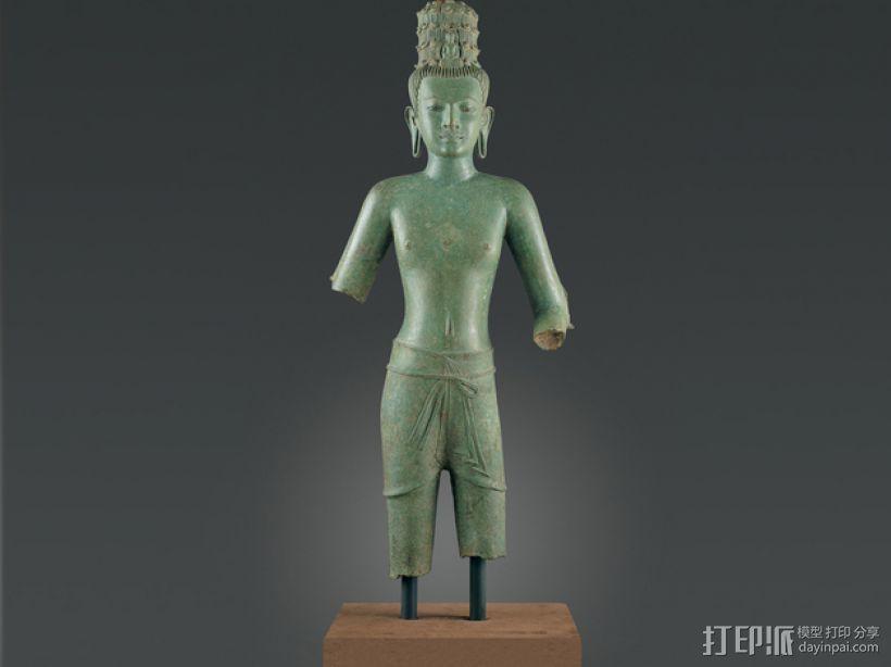 东南亚观世音菩萨 3D模型  图1