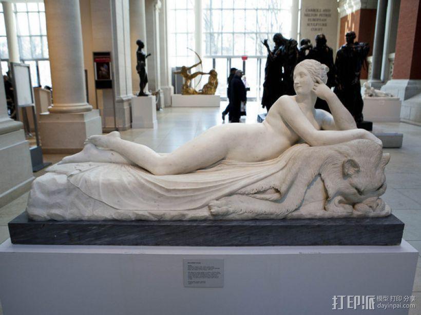 《躺着的奈亚德》雕塑 3D模型  图1
