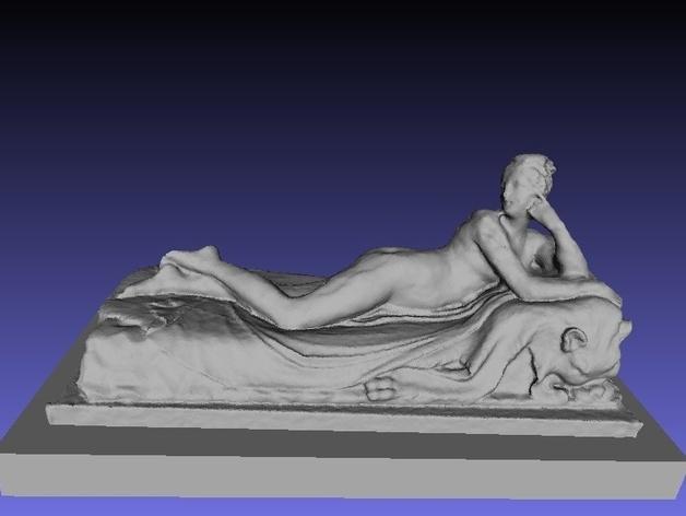 《躺着的奈亚德》雕塑 3D模型  图2