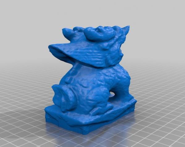 麒麟塑像 3D模型  图1
