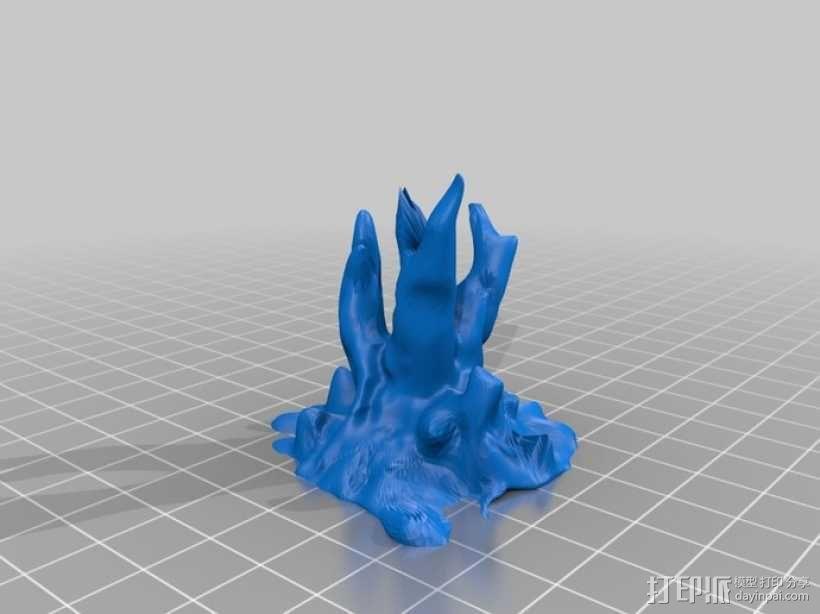 树根雕塑 3D模型  图2